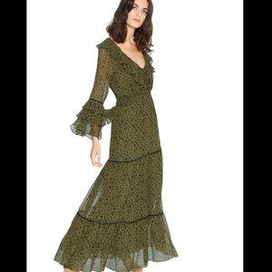 Misa Los Angeles Maristela Ruffle Maxi Dress XS